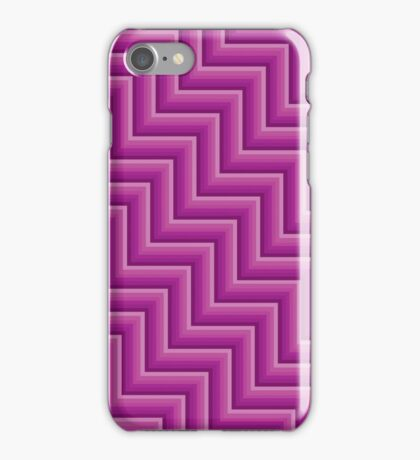 Stripy steps in Pink iPhone Case/Skin