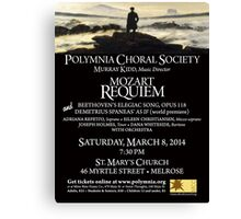 Mozart Requiem (March 2014) Canvas Print