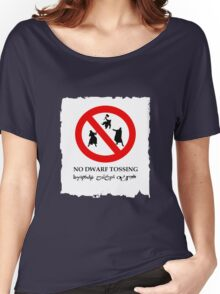 NO DWARF TOSSING-lotr Women's Relaxed Fit T-Shirt