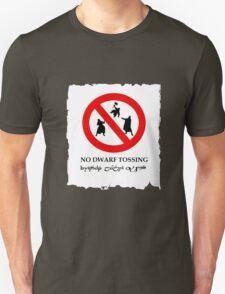 NO DWARF TOSSING-lotr Unisex T-Shirt