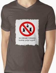 NO DWARF TOSSING-lotr Mens V-Neck T-Shirt