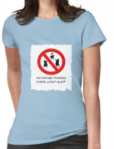 NO DWARF TOSSING-lotr Womens Fitted T-Shirt