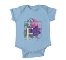 F is for Fuchsia One Piece - Short Sleeve