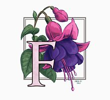 F is for Fuchsia Womens Fitted T-Shirt