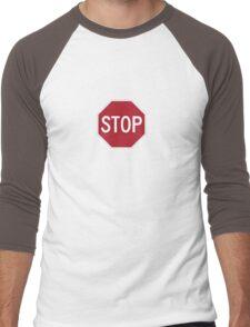 stop sign funny bro truck stop tee  Men's Baseball ¾ T-Shirt