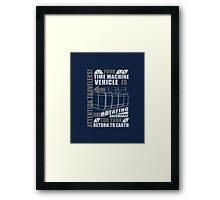 Time Travel Backwards Framed Print