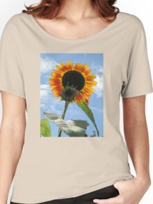 Backlit Sunflower and Bud Women's Relaxed Fit T-Shirt