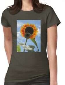 Backlit Sunflower and Bud Womens Fitted T-Shirt