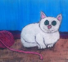 Cat and Yarn by Nicole Zamora
