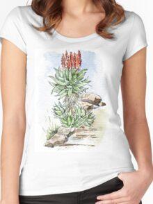 Aloe ferox in my garden Women's Fitted Scoop T-Shirt