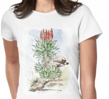 Aloe ferox in my garden Womens Fitted T-Shirt