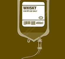 Alcoholic WHISKY Medical IV Drip  by Creative Spectator