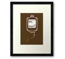 Alcoholic BEER Medical IV Drip  Framed Print