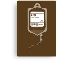 Alcoholic BEER Medical IV Drip  Canvas Print