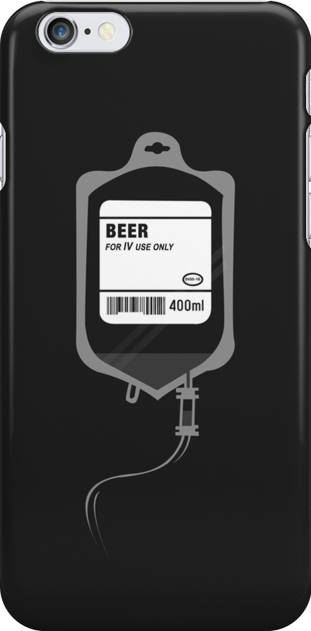 Alcoholic BEER Medical IV Drip  by Creative Spectator