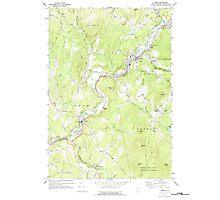USGS TOPO Map New Hampshire NH Lisbon 329629 1967 24000 Photographic Print
