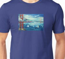 San Francisco golden gate bridge sailing day Unisex T-Shirt