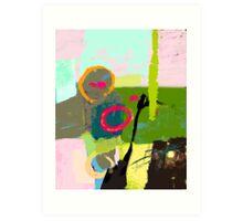 Abstract landscape - The inner landscape Art Print