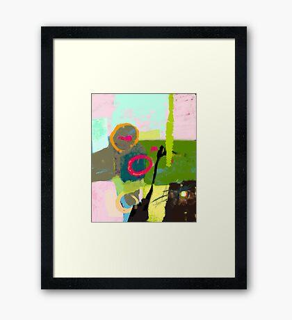 Abstract landscape - The inner landscape Framed Print