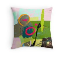 Abstract landscape - The inner landscape Throw Pillow