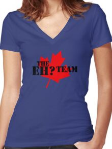 The eh? Team Women's Fitted V-Neck T-Shirt