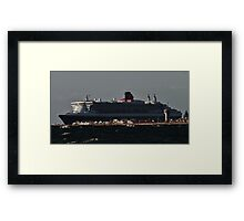 QUEEN MARY OVER NORTH HAVEN Framed Print