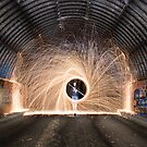 Spinning Steel Wool at Kiama Graveyard by Kerrod Sulter