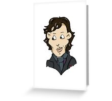 sherlock bbc cumberbatch cartoon Greeting Card