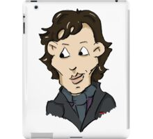 sherlock bbc cumberbatch cartoon iPad Case/Skin