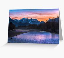 Sky River Sunrise Greeting Card