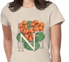 N is for Nasturtium Womens Fitted T-Shirt