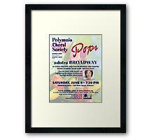 Salute Pops (June 2012) Framed Print
