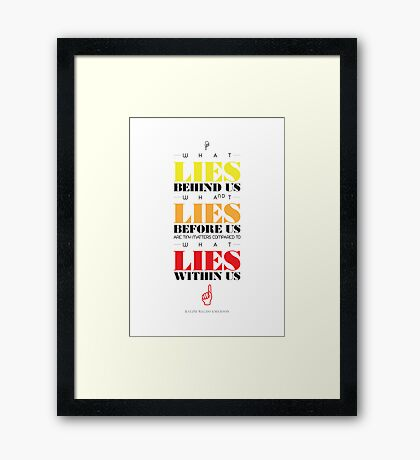 Macho Typographic Quote #3 Framed Print