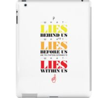 Macho Typographic Quote #3 iPad Case/Skin