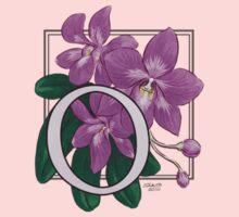 O is for Orchid - patch Kids Tee