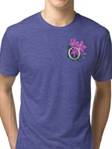 O is for Orchid - patch Tri-blend T-Shirt