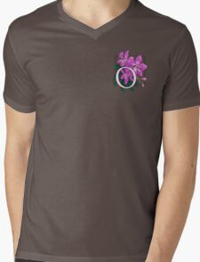 O is for Orchid - patch Mens V-Neck T-Shirt
