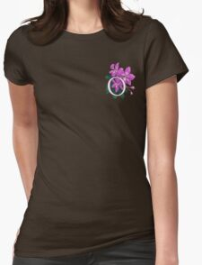 O is for Orchid - patch Womens Fitted T-Shirt