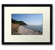Pebbled Beach  Framed Print