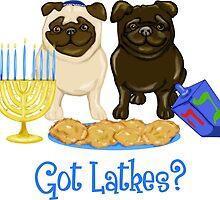 Got Latkes Hanukkah Pug by pugmom4
