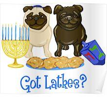 Got Latkes Hanukkah Pug Poster