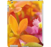 Pink and Orange Orchids iPad Case/Skin
