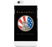 Memorial Day Greeting Card American WWII Soldier Flag iPhone Case/Skin