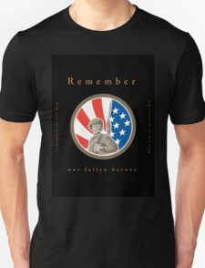Memorial Day Greeting Card American WWII Soldier Flag T-Shirt