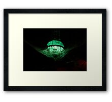 Eerie Lamp in the Rafters Framed Print