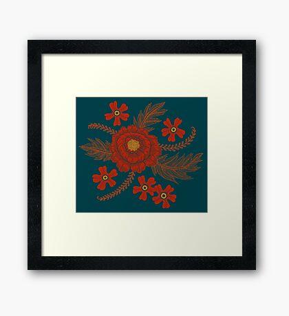Red Peony Framed Print