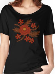 Red Peony Women's Relaxed Fit T-Shirt