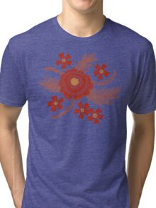 Red Peony Tri-blend T-Shirt