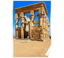 Trajan's Kiosk - Egyptian Ruins on Philae Poster