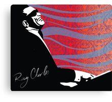 retro RAY CHARLES digital illustration  Canvas Print